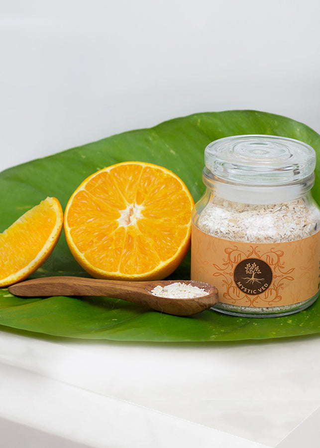 Mystic Ved Orange & Multani Mitti Face Scrub, Face Scrub, Mystic Ved, ihaat, [made_in_india], [handmade] - ihaat