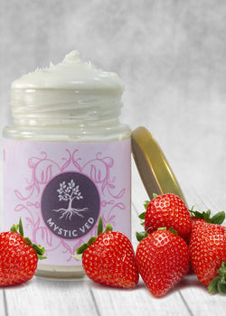 Mystic Ved Strawberry Body Butter, body butter, Mystic Ved, ihaat, [made_in_india], [handmade] - ihaat