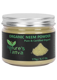 Nature's Tattva Certified Organic Neem Powder- 175gm, Beauty & Skin Care, Nature's Tattva, ihaat, [made_in_india], [handmade] - ihaat