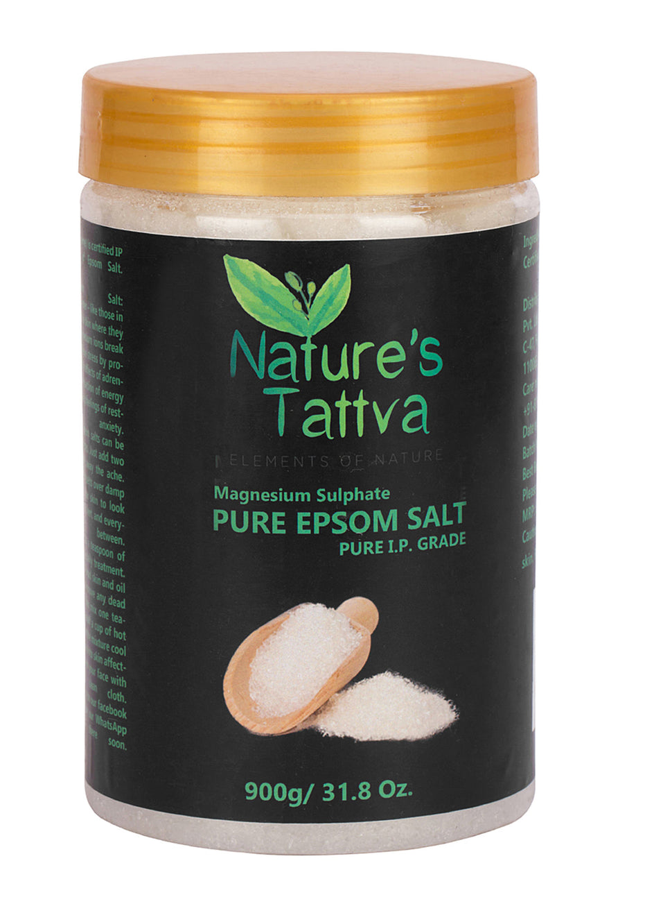 Nature's Tattva Epsom Salt or Magnesium Sulphate for Bath, Foot & Refreshing Body Spa, 900gm, Beauty & Skin Care, Nature's Tattva, ihaat, [made_in_india], [handmade] - ihaat