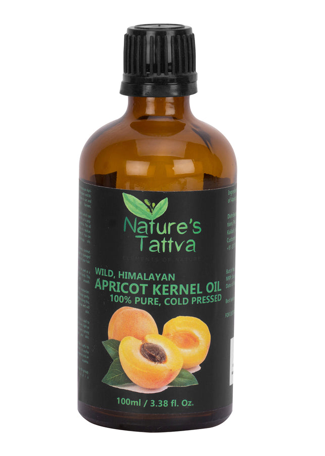 Nature's Tattva Pure Apricot Carrier Oil, 100ml, Hair Oil, Nature's Tattva, ihaat, [made_in_india], [handmade] - ihaat