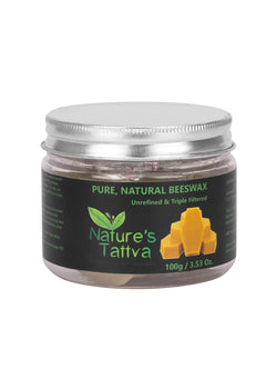 Nature's Tattva Pure Natural Beeswax From Organic Honey Farms 100 Grams, skin, Nature's Tattva, ihaat, [made_in_india], [handmade] - ihaat