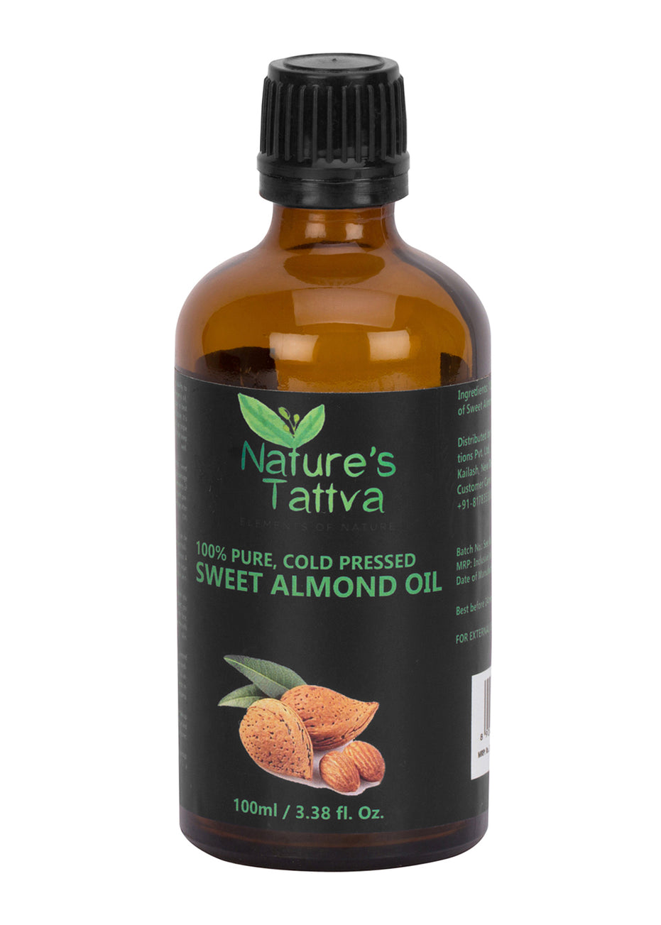 Nature's Tattva Pure Natural Sweet Almond Oil, 100ml, Beauty & Skin Care, Nature's Tattva, ihaat, [made_in_india], [handmade] - ihaat