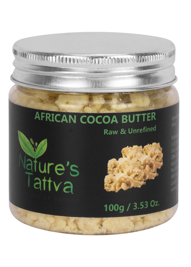 Nature's Tattva Raw Organic Cocoa Butter Unprocessed & Unrefined, 100gm, Beauty & Skin Care, Nature's Tattva, ihaat, [made_in_india], [handmade] - ihaat