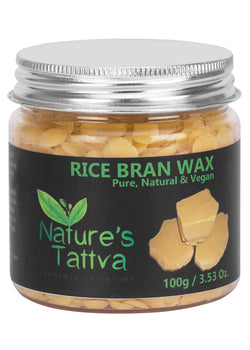 Nature's Tattva Rice Bran Wax (Vegan), 100gm, Beauty & Skin Care, Nature's Tattva, ihaat, [made_in_india], [handmade] - ihaat