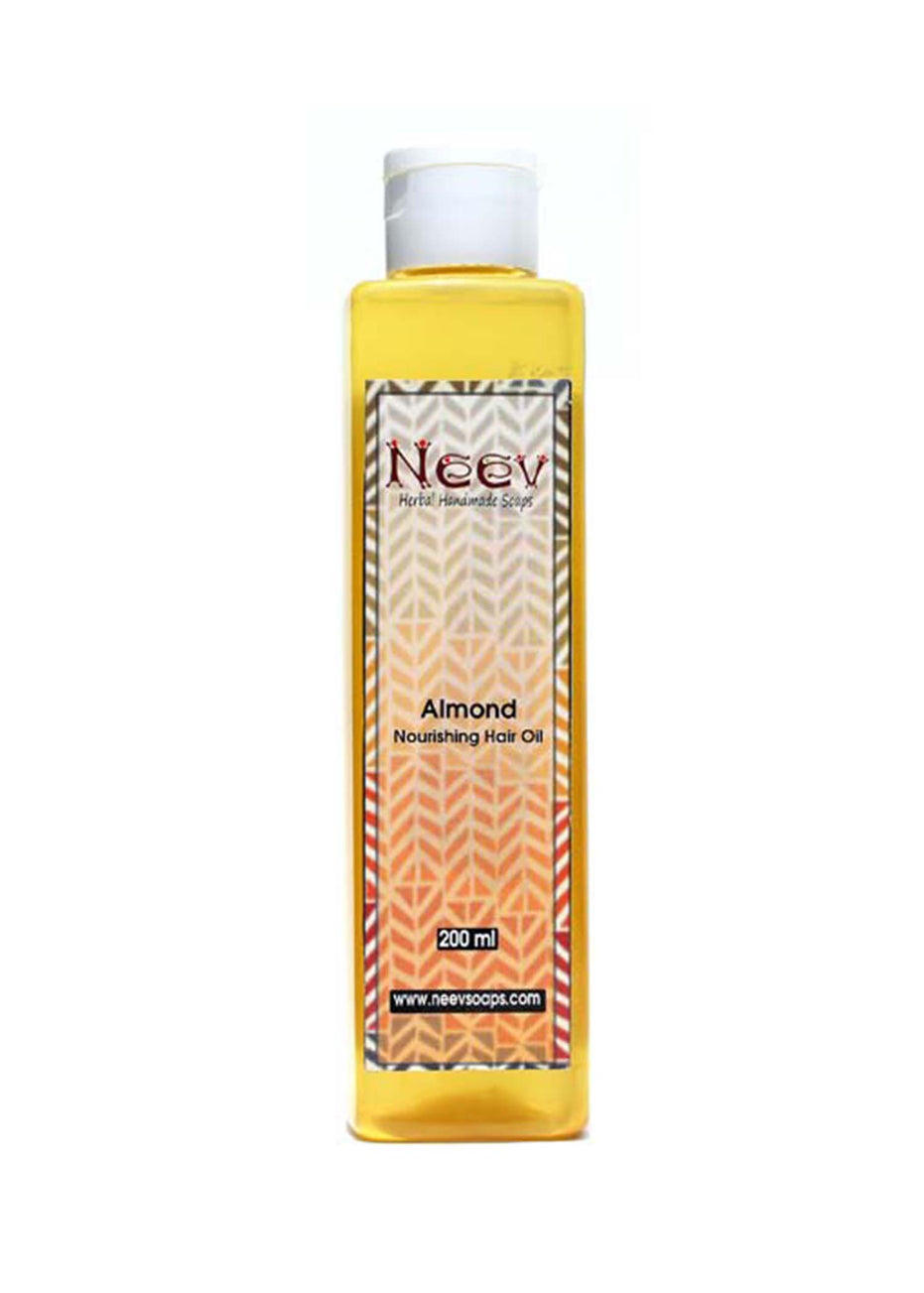 Neev Almond Nourishing Hair Oil, Hair Oil, Neev Herbal Handmade Soaps, ihaat, [made_in_india], [handmade] - ihaat