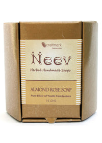Neev Almond Rose Handmade Soap- Pure Elixir Of Youth From Nature, handmade soap, Neev Herbal Handmade Soaps, ihaat, [made_in_india], [handmade] - ihaat