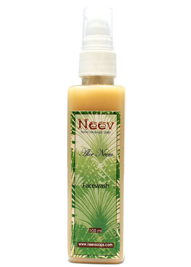 Neev Aloe Neem Face Wash - For Acne Prone Skin, Face Wash, Neev Herbal Handmade Soaps, ihaat, [made_in_india], [handmade] - ihaat