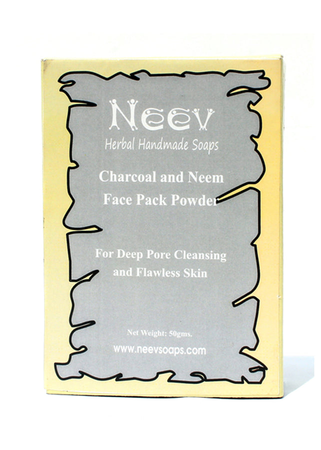 Neev Charcoal And Neem Face Pack For Deep Pore Cleansing And Flawless Skin, Face Pack, Neev Herbal Handmade Soaps, ihaat, [made_in_india], [handmade] - ihaat