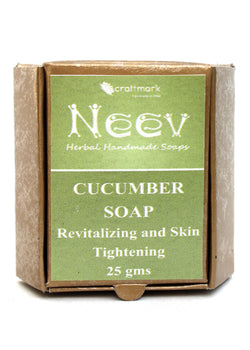 Neev Cucumber Soap Revitalizing And Skin Tightening, handmade soap, Neev Herbal Handmade Soaps, ihaat, [made_in_india], [handmade] - ihaat