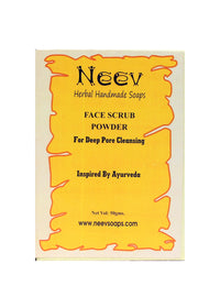 Neev Face Scrub Powder For Deep Pore Cleansing Inspired By Ayurveda, Face Scrub, Neev Herbal Handmade Soaps, ihaat, [made_in_india], [handmade] - ihaat