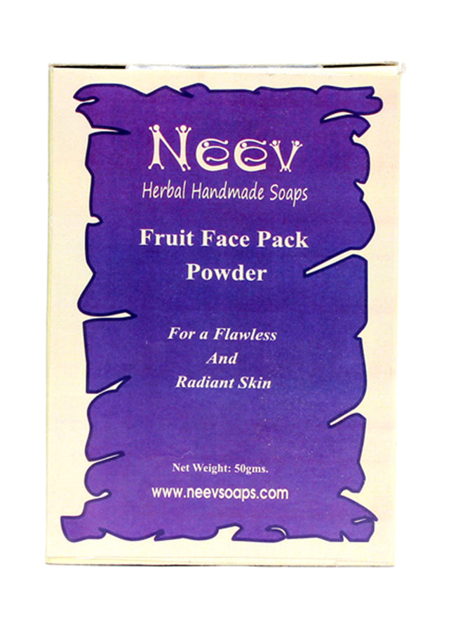Neev Fruit Face Pack Powder For A Flawless And Radiant Skin, Face Pack, Neev Herbal Handmade Soaps, ihaat, [made_in_india], [handmade] - ihaat