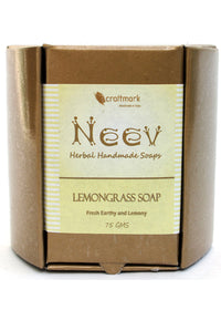 Neev Lemongrass Handmade Soap- Fresh, Earthy And Lemony, handmade soap, Neev Herbal Handmade Soaps, ihaat, [made_in_india], [handmade] - ihaat