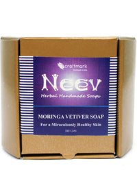 Neev Moringa Vetiver Soap For A Miraculously Healthy Skin, handmade soap, Neev Herbal Handmade Soaps, ihaat, [made_in_india], [handmade] - ihaat
