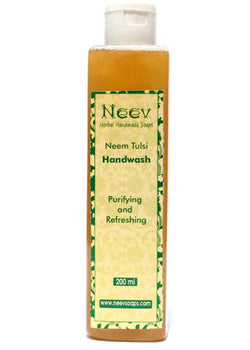 Neev Neem Tulsi Handwash Purifying And Refreshing, hand wash, Neev Herbal Handmade Soaps, ihaat, [made_in_india], [handmade] - ihaat