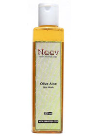 Neev Olive Aloe Hair Wash - Moisturising And Conditioning, Hair Wash, Neev Herbal Handmade Soaps, ihaat, [made_in_india], [handmade] - ihaat