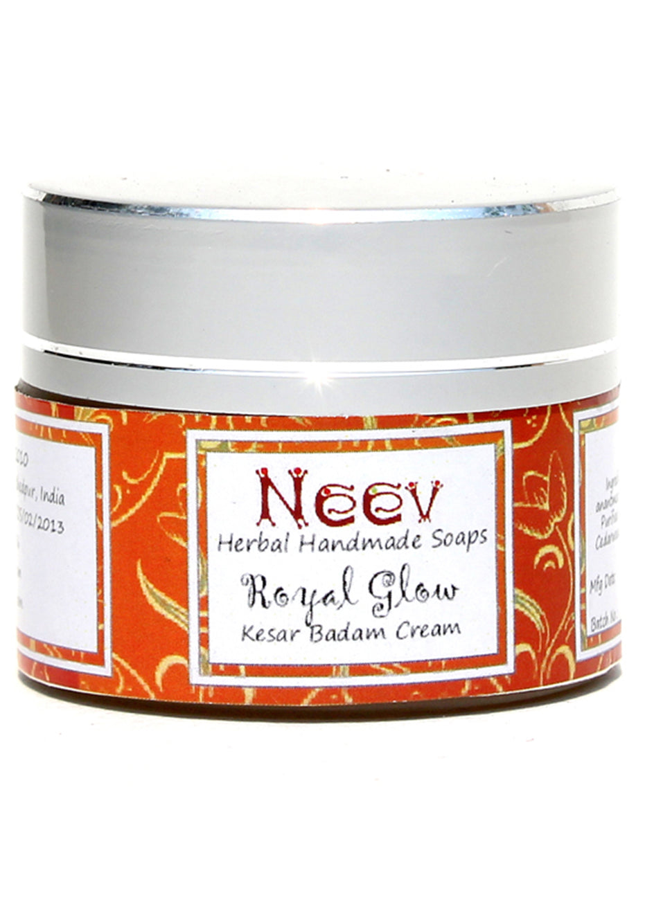 Neev Royal Glow Kesar Badam Cream, Beauty & Skin Care, Neev Herbal Handmade Soaps, ihaat, [made_in_india], [handmade] - ihaat