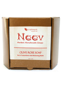 Neev Olive Rose Handmade Soap- For A Luxurious And Relaxing Bath, handmade soap, Neev Herbal Handmade Soaps, ihaat, [made_in_india], [handmade] - ihaat