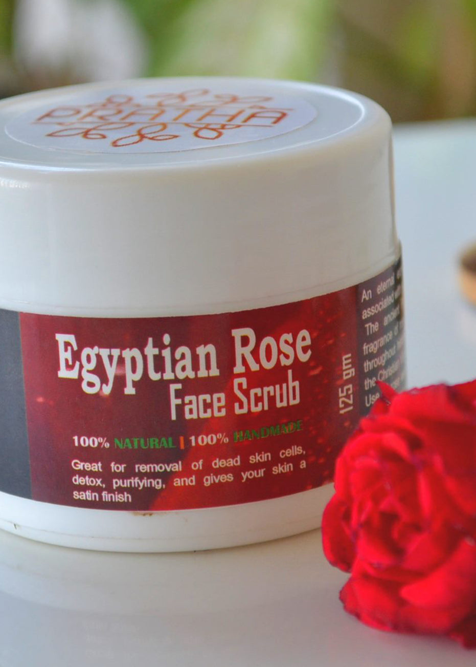 Pratha Naturals Egyptian Roses Scrub, Face Scrub, Pratha Naturals, ihaat, [made_in_india], [handmade] - ihaat