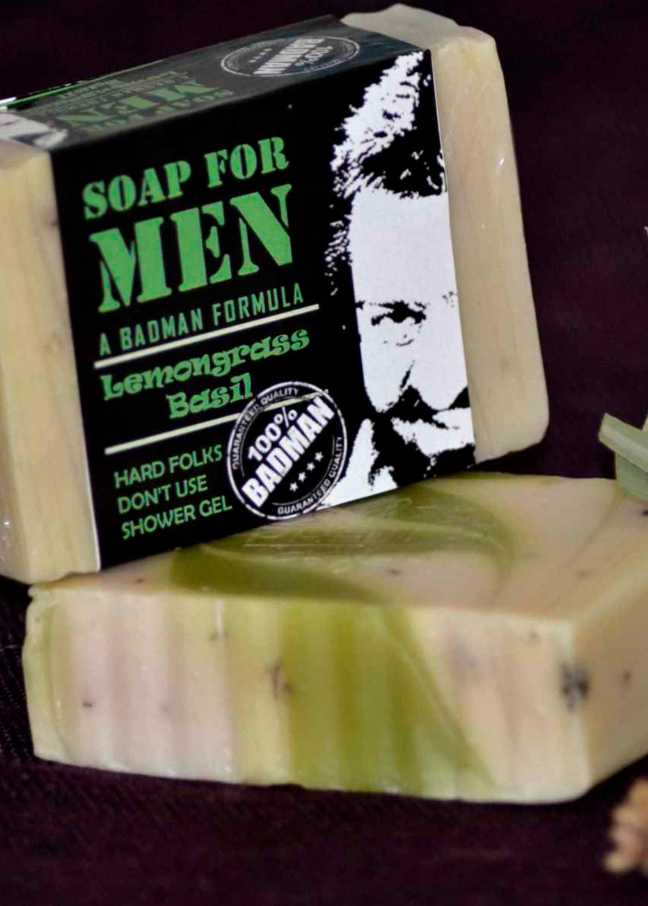 Pratha Naturals Men's Exclusive Lemongrass Basil Soap, handmade soap, Pratha Naturals, ihaat, [made_in_india], [handmade] - ihaat