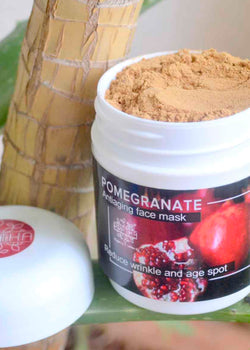 Pratha Naturals Pomegranate Anti Ageing Face Mask Reduce Wrinkle, Fine Line And Age Spot, Face Mask, Pratha Naturals, ihaat, [made_in_india], [handmade] - ihaat