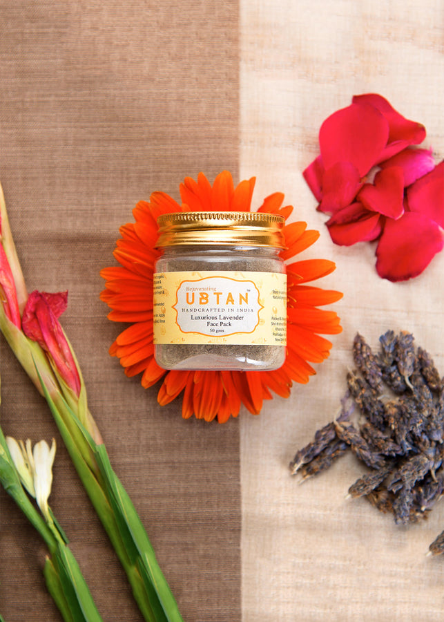 Rejuvenating UBTAN Luxurious Lavender Face Pack, Face Care, Rejuvenating UBTAN, ihaat, [made_in_india], [handmade] - ihaat