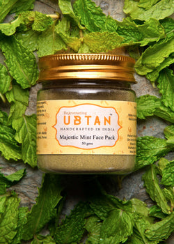 Rejuvenating UBTAN Majestic Mint Face Pack, Face Care, Rejuvenating UBTAN, ihaat, [made_in_india], [handmade] - ihaat