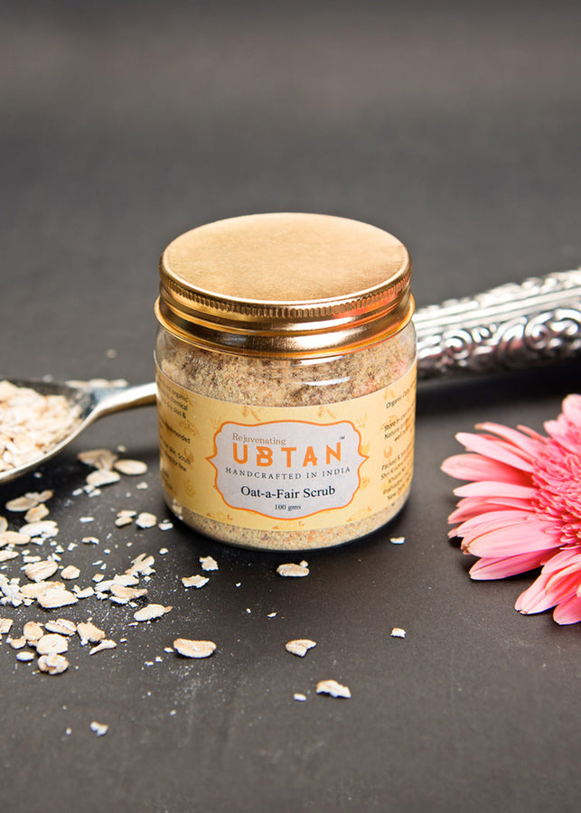 Rejuvenating UBTAN Oat a Fair Scrub, Face Care, Rejuvenating UBTAN, ihaat, [made_in_india], [handmade] - ihaat