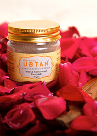 Rejuvenating UBTAN Rose and Sandalwood Face Pack, Face Care, Rejuvenating UBTAN, ihaat, [made_in_india], [handmade] - ihaat