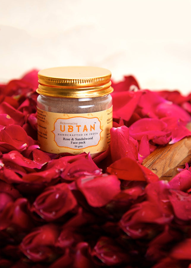 ihaat.in Rejuvenating UBTAN Rose and Sandalwood Face Pack, Face Care, Rejuvenating UBTAN, ihaat, [made_in_india], [handmade] - ihaat