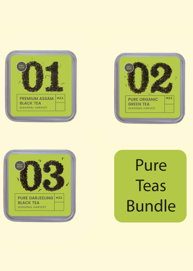Tea Trunk: Pure Tea Bundle, Tea, Tea Trunk, ihaat, [made_in_india], [handmade] - ihaat