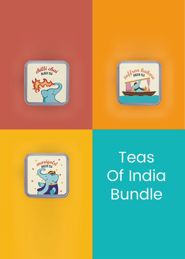 Tea Trunk: Teas of India Bundle, Tea, Tea Trunk, ihaat, [made_in_india], [handmade] - ihaat