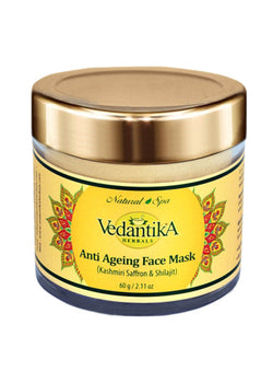 Vedantika Herbals Anti Ageing Mask (With Saffron And Shilajit), Face Mask, Vedantika Herbals, ihaat, [made_in_india], [handmade] - ihaat