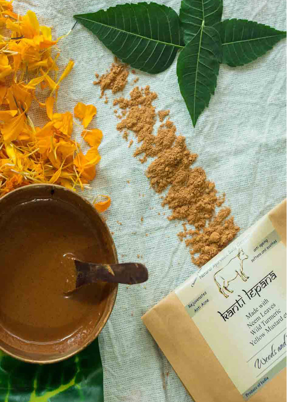Woods And Petals Handmade Panchgavya Ubtan Or Body Scrub (Kanti Lepana), body scrub, Woods And Petals, ihaat, [made_in_india], [handmade] - ihaat