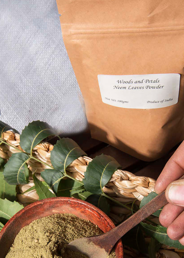 ihaat.in Woods And Petals Neem Leaves Powder For Skin & Hair