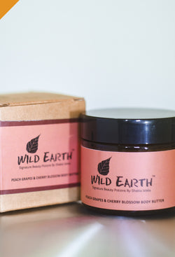 Wild Earth Peach Grapes Cherry Body Butter, body butter, Wild Earth, ihaat, [made_in_india], [handmade] - ihaat