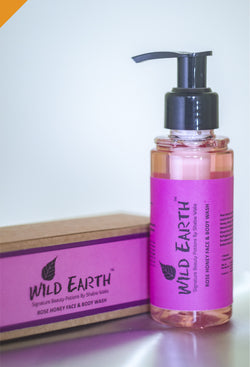 Wild Earth Rose Honey Face & Body Wash, Facial Care, body wash, face wash, Wild Earth, ihaat, [made_in_india], [handmade] - ihaat