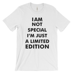 i am not special i am just limited edition unisex short sleeve t-shirt mens shirts t shirts design cheap cool online for women for men printed long sleeve cotton printing online design my own art nice casual shirts online shop funny custom t shirts short sleeve
