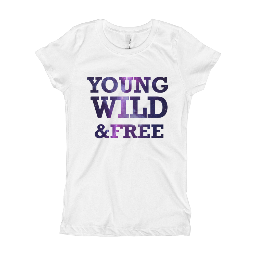 YOUNG WILD & FREE Girl's The Princess Tee with Tear Away Label