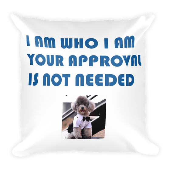 I AM WHO I AM YOU YOUR APPROVAL IS NOT NEEDED Square Pillow case