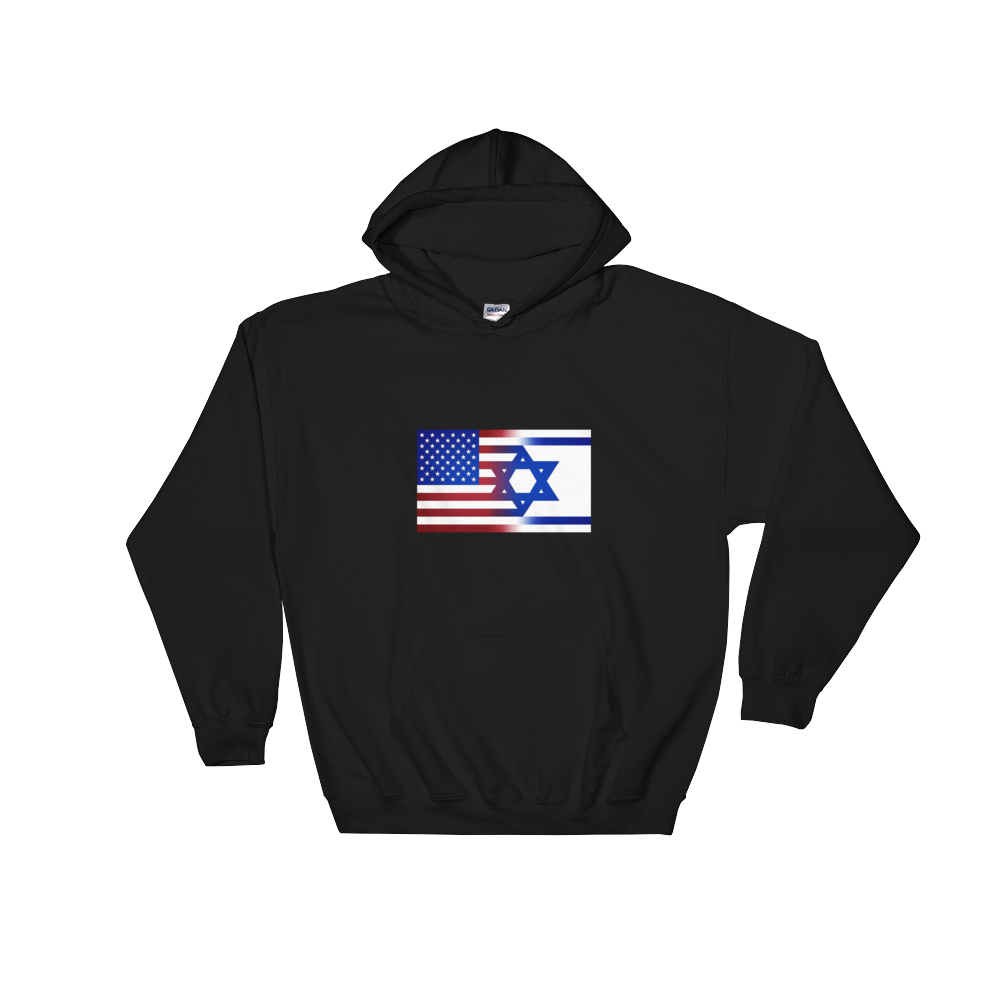 American/Israeli Flag Hooded Sweatshirt