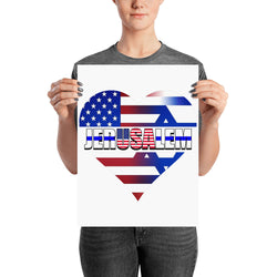 USA in The Heart of Jerusalem Poster