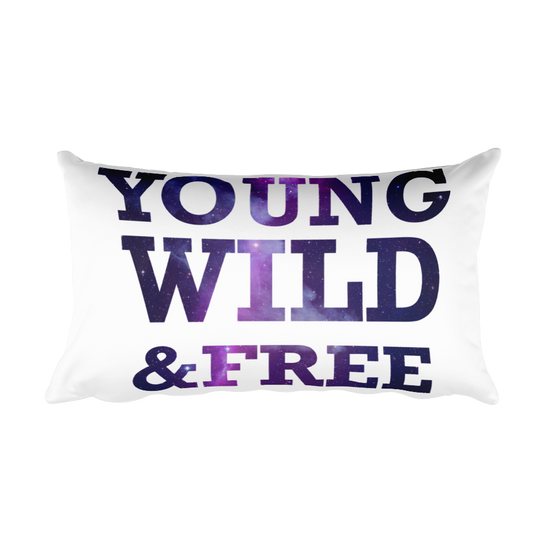 YOUNG WILD & FREE Rectangular Pillow case