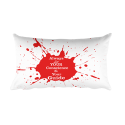 always let your conscience be your guide rectangular pillow case