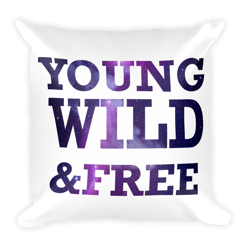 YOUNG WILD & FREE Square Pillow case