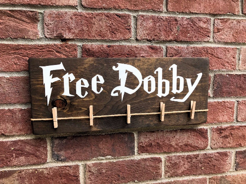 Free Dobby - Lost Socks Laundry Room Sign