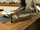 Hand Painted Personalized Wood Name Plate. Great gift for Teachers, Doctors or Mom!
