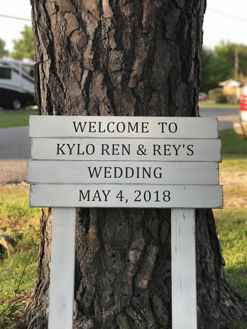 Personalized Rustic Wedding Sign