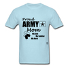 Proud Army Mom Red White and Blue T-Shirt - powder blue