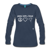 Peace, Love and Cows Long Sleeve T-Shirt - navy